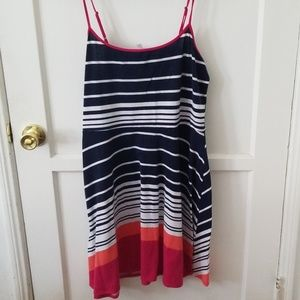 xhilaration XXL striped sun dress